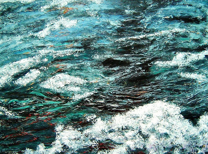 Seascape 3, 30 x 40 inches, acrylic on canvas