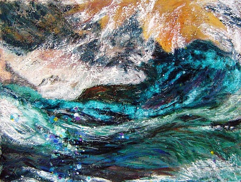 Seascape 4, 30 x 40 inches, acrylic on canvas