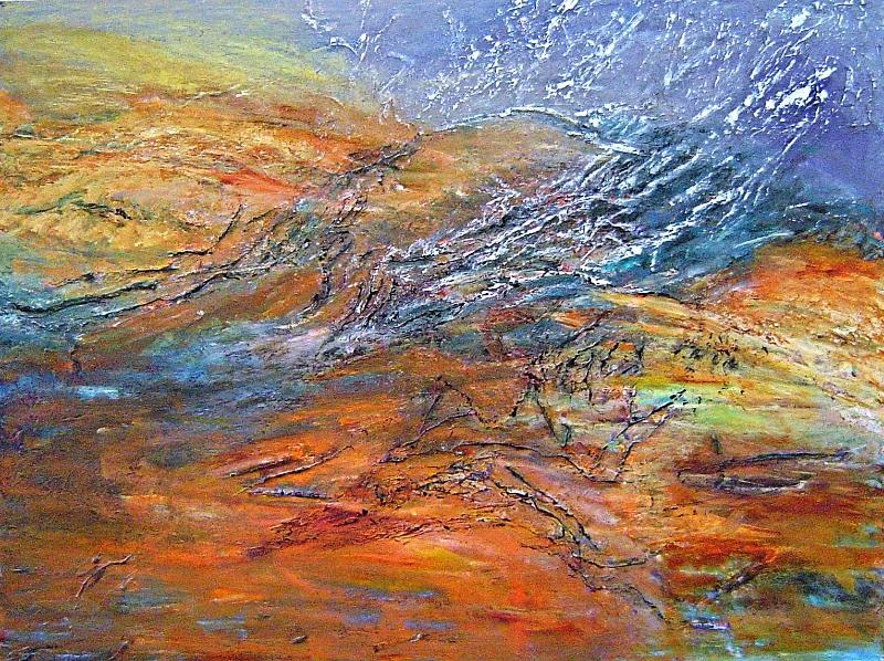 Seascape 5, 30 x 40 inches, acrylic on canvas