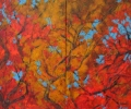 Autumn Branches 2, diptych, 36 x 48